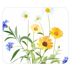 Flowers Flower Of The Field Double Sided Flano Blanket (Small)
