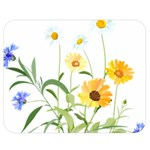 Flowers Flower Of The Field Double Sided Flano Blanket (Medium)  60 x50 Blanket Back