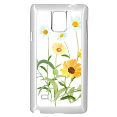 Flowers Flower Of The Field Samsung Galaxy Note 4 Case (White)