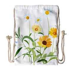Flowers Flower Of The Field Drawstring Bag (Large)