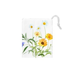 Flowers Flower Of The Field Drawstring Pouches (XS)