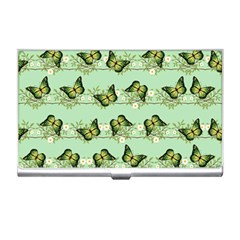 Green Butterflies Business Card Holders