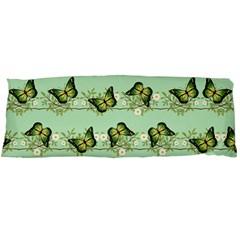 Green Butterflies Body Pillow Case (Dakimakura)