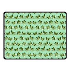 Green Butterflies Double Sided Fleece Blanket (Small)