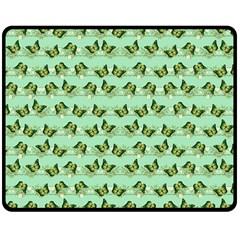 Green Butterflies Double Sided Fleece Blanket (medium)