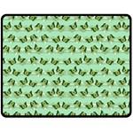 Green Butterflies Double Sided Fleece Blanket (Medium)  60 x50 Blanket Back