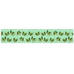 Green Butterflies Flano Scarf (Large)