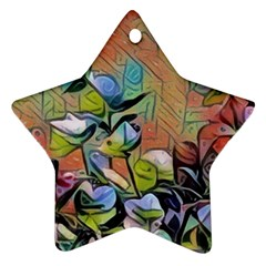 Spring Flowers Magic Cube Ornament (Star)
