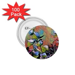 Spring Flowers Magic Cube 1.75  Buttons (100 pack)