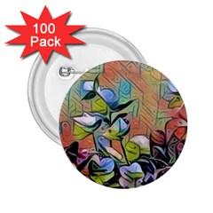Spring Flowers Magic Cube 2.25  Buttons (100 pack)