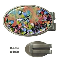 Spring Flowers Magic Cube Money Clips (Oval)