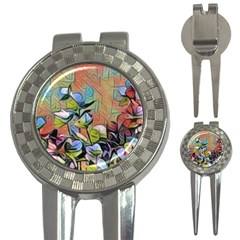 Spring Flowers Magic Cube 3-in-1 Golf Divots