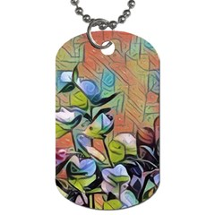 Spring Flowers Magic Cube Dog Tag (Two Sides)