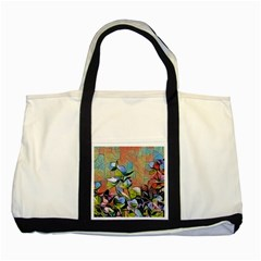Spring Flowers Magic Cube Two Tone Tote Bag