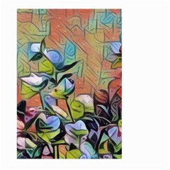 Spring Flowers Magic Cube Large Garden Flag (Two Sides)
