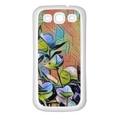 Spring Flowers Magic Cube Samsung Galaxy S3 Back Case (White)