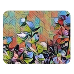 Spring Flowers Magic Cube Double Sided Flano Blanket (Large)