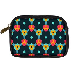 Connected shapes pattern     Digital Camera Leather Case