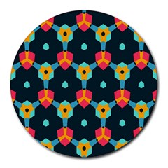 Connected shapes pattern          Round Mousepad