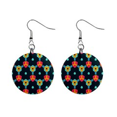 Connected Shapes Pattern          1  Button Earrings