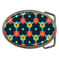 Connected shapes pattern          Belt Buckle