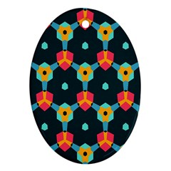 Connected shapes pattern          Ornament (Oval)