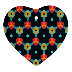 Connected shapes pattern          Ornament (Heart)