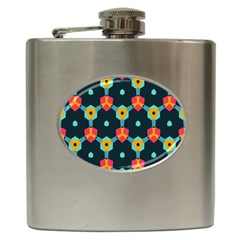 Connected shapes pattern          Hip Flask (6 oz)