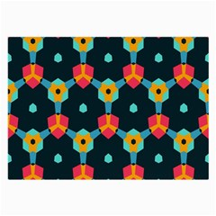 Connected shapes pattern          Large Glasses Cloth
