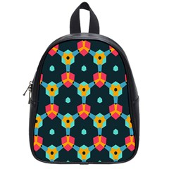 Connected shapes pattern          School Bag (Small)