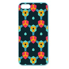 Connected shapes pattern    Apple Seamless iPhone 5 Case (Clear)