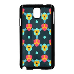Connected shapes pattern    Samsung Galaxy S5 Back Case (White)