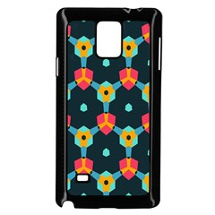Connected shapes pattern    Samsung Galaxy Note 4 Case (White)