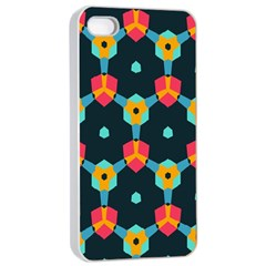 Connected shapes pattern    Apple iPhone 4/4s Seamless Case (Black)