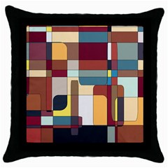 Patchwork Throw Pillow Case (Black)