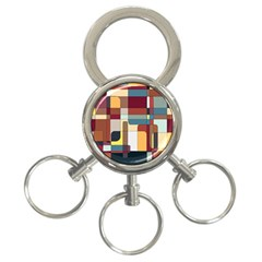 Patchwork 3 Ring Key Chains