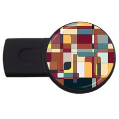 Patchwork Usb Flash Drive Round (4 Gb)