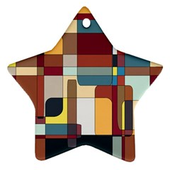 Patchwork Star Ornament (two Sides)