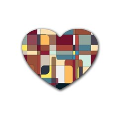Patchwork Rubber Coaster (Heart)