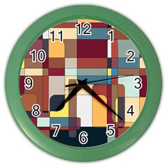 Patchwork Color Wall Clocks