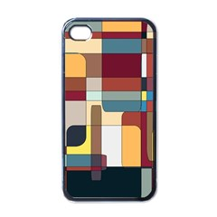 Patchwork Apple Iphone 4 Case (black)