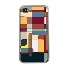 Patchwork Apple iPhone 4 Case (Clear)