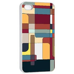Patchwork Apple iPhone 4/4s Seamless Case (White)