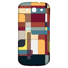 Patchwork Samsung Galaxy S3 S Iii Classic Hardshell Back Case
