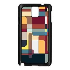 Patchwork Samsung Galaxy Note 3 N9005 Case (black)