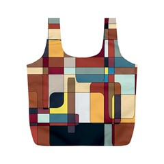 Patchwork Full Print Recycle Bags (M)