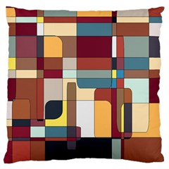 Patchwork Large Flano Cushion Case (One Side)