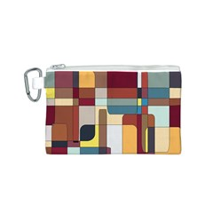 Patchwork Canvas Cosmetic Bag (S)
