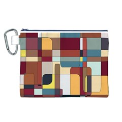 Patchwork Canvas Cosmetic Bag (l)