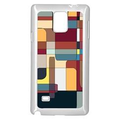 Patchwork Samsung Galaxy Note 4 Case (White)